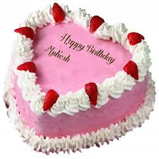 birthday mukesh name wishes strawberry heart shaped cakes pictures