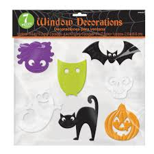 halloween window clings 30cm x 30cm pack size 12 pc amscan