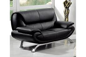 canapé 2 places en cuir canapé 2 places en cuir italien jonah noir mobilier privé