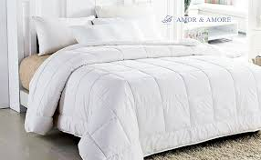 Light Weight Down Comforter Amazon Com Amor U0026 Amore White Soft Fluffy Reversible Down