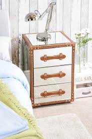 trunk style bedside tables my furniture mirror mirrored furniture bedside table vintage trunk