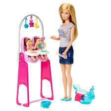barbie careers twins babysitter doll playset target