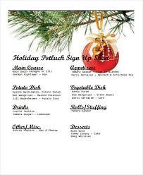 7 potluck signup sheet templates free sample example format