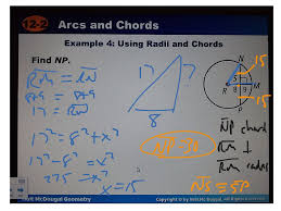 showme review chapter 12 circles chords and arcs