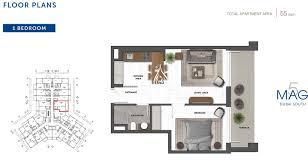 1 Bedroom Apartment Floor Plans by Mag 5 Boulevard Studio Apartment Floor Plan