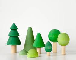 wooden trees etsy