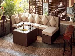 Small Space Patio Furniture Rustic Backyards Small Space Patio Furniture Ideas Balcony