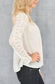 white lace blouses zero white lace blouse from branford by polished
