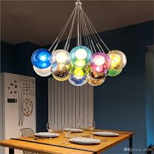 colorful glass ball pendant lamp chandelier of colorful glass
