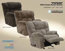 Catnapper Chaise Catnapper Popson Extra Comfort Chaise Rocker Recline In Chocolate