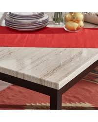 marble and metal dining table find the best deals on inspire q darcy faux marble black metal 48