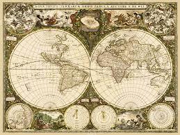 Usps First Class Shipping Time Map 1600 U0027s Old World Decorative Map Art Print 24x32 Ebay