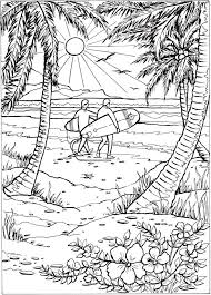 tropical beach coloring pages 2753 best coloring page images on pinterest mandalas drawings