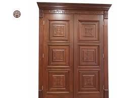 red oak main door design modern solid wood door design with