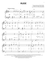real drum tutorial rude rude sheet music direct