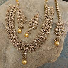 antique necklace set images Antique kundan polki necklace set 22301 jpg