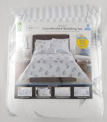 Seashell Queen Comforter Set Mainstays Seashells Bed In A Bag Coordinated Bedding Set Walmart Com