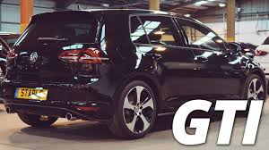 volkswagen golf gti 2015 black 2016 volkswagen golf gti mk7 black walk around 2 0 tsi 220ps youtube