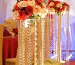 Indian Wedding Decorations For Sale 50m Lot Transparent Crystal Octagonal Beaded Chain Curtain Acrylic