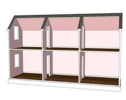 Free Miniature Dollhouse Plans Beginner by Doll House Plans For American Or 18 Inch Dolls 5 Room