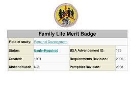 family life merit badge worksheet free worksheets library