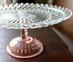 vintage cake stand 14 pink cake stand pedestal glass cake stand cake