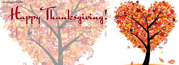 Facebook Thanksgiving Happy Thanksgiving Heart Leaf Tree Facebook Cover Happy