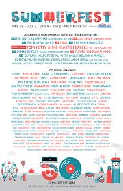 What Your Favourite Colour Says About You 2017 Lineup Summerfest The World U0027s Largest Music Festival