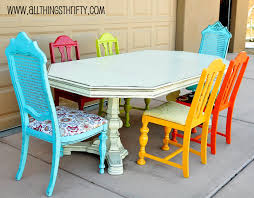 Different Color Dining Room Chairs Not Until Dining Room Table The Shabby Finish And Mismatched