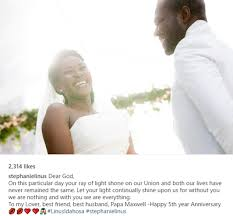 Message To My Husband On Our Wedding Anniversary Stephanie Okereke Linus Celebrates Her Fifth Wedding Anniversary