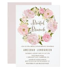 bridal brunch invitations announcements zazzle