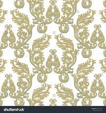 vintage baroque rococo ornament pattern vector stock vector