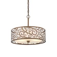 Drum Pendant Gold Drum Pendant Lights Hanging Lights The Home Depot