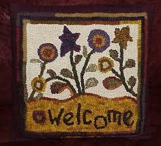 traditional rug hooking designs by sally van nuys of folk u0027n