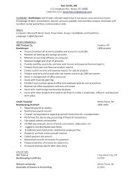 Bookkeeper Sample Resume by Bookkeeper Resume Free Resume Example And Writing Download