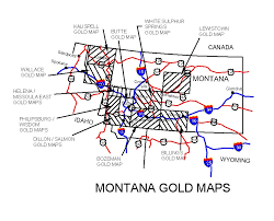 montana maps montana gold maps montana gold panning montana gold placers