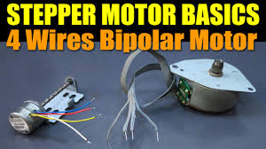 stepper motor basics 4 wires bipolar motor youtube