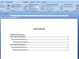 cara membuat daftar gambar word dua cara membuat daftar isi di ms word otomatis manual