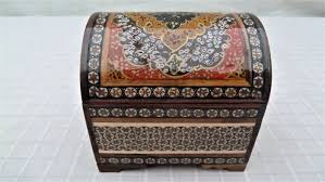 lot of eight wooden ornamental boxes carved brass and leather