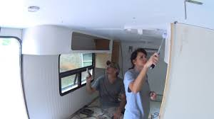 box truck camper 88 interior paint youtube
