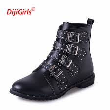 s boots buckle 2018 european s leather motorcycle boots rivets buckle