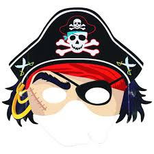 paper halloween mask pirate party paper mask big w