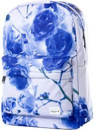 spiral eternal roses backpack in blue hardcloud com
