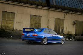bmw e36 stanced bmw e36 m3 blue and grey