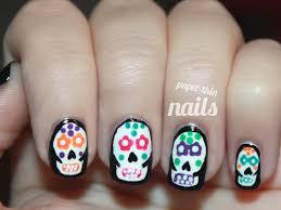41 amazing sugar skull nail designs 1