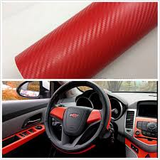 Vinyl Car Interior Car Suv Interior Accessories Interior Panel Red Carbon Fiber Vinyl