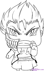 chibi bleach coloring pages coloring pages ideas