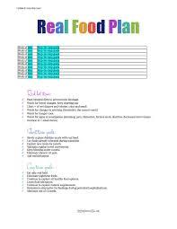 healthy eating planner template printable s real food plan template google docs