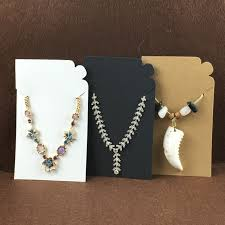 earring necklace jewelry display images 100pcs kraft blank pendant card paper necklace earring cards jpg