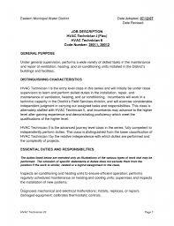 Hvac Resume Samples Pdf by Hvac Resume Objective